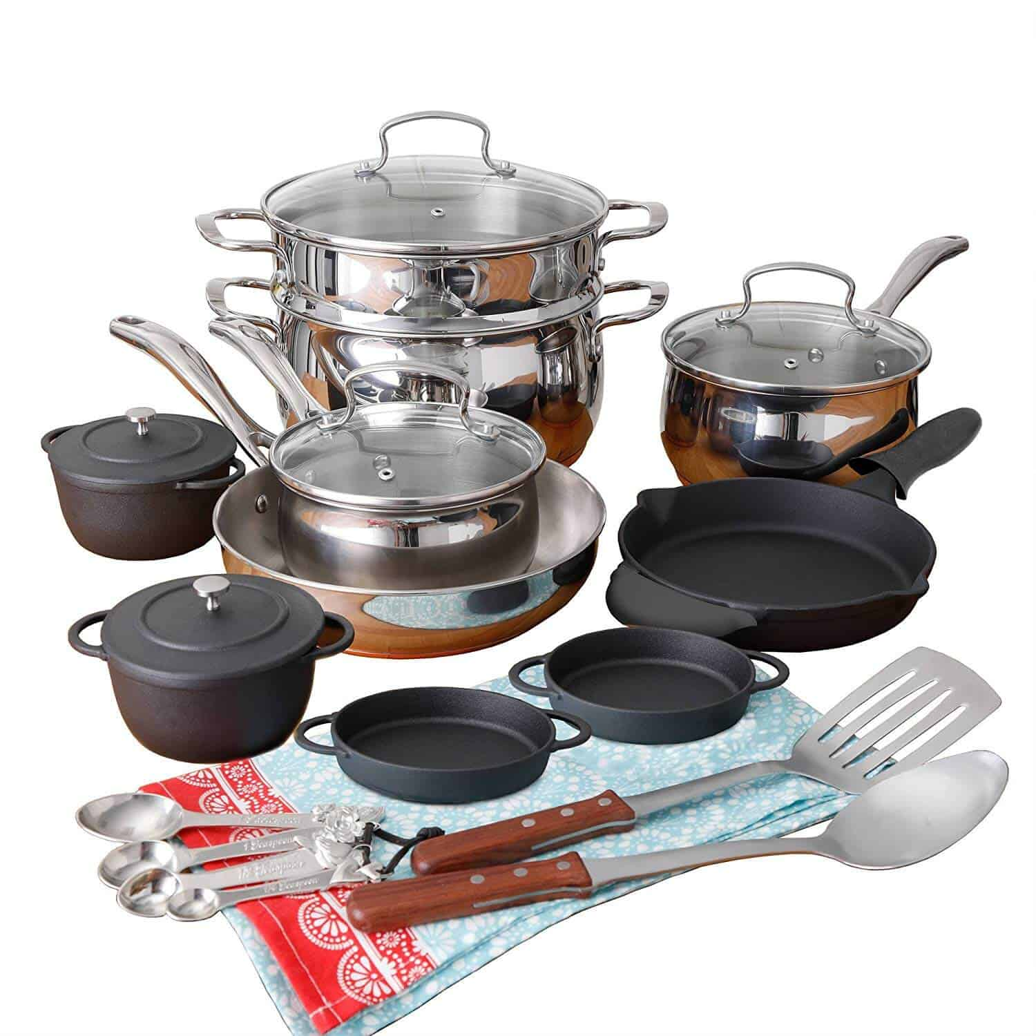 The Pioneer Woman Copper Charm 23-Piece Mother's Day Cookware Combo Set