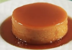coffee flavored no bake leche flan