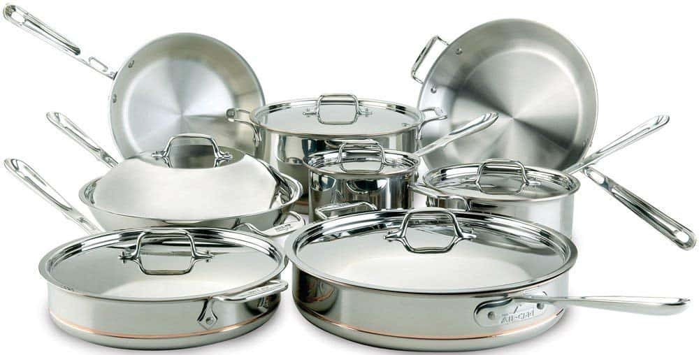 All-Clad 60090 Copper Core 5-Ply Bonded Cookware Set