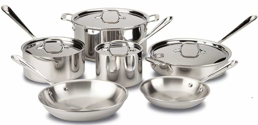 All-Clad D3 Tri-Ply Bonded Cookware Set