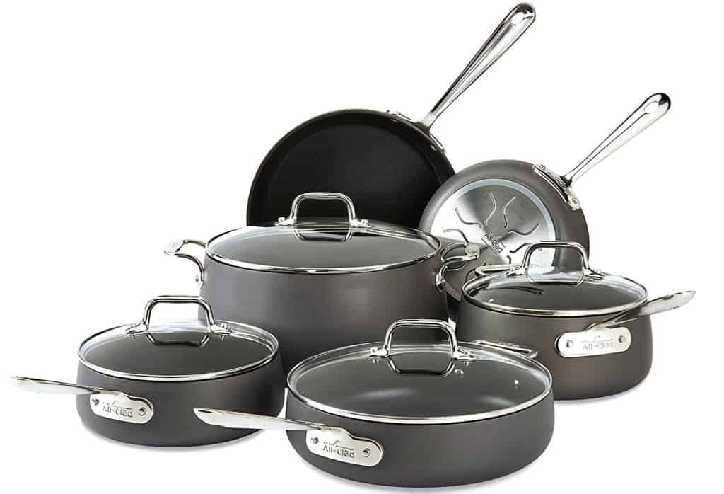 All-Clad E785SC64 Ha1 Hard Anodized Nonstick PFOA-Free Cookware Set